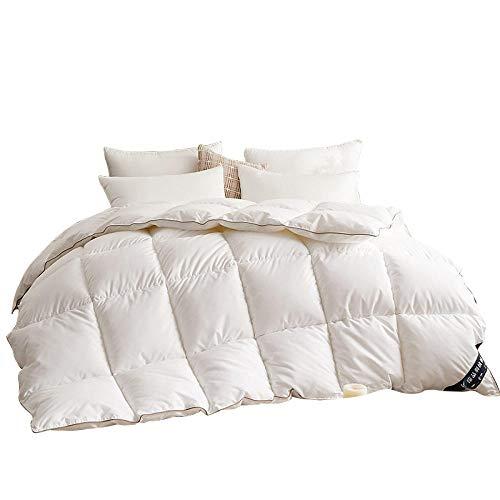 Lightweight Duvet 100% Cotton Anti Dust Mite & Down Proof Fabric - Anti Allergen-Washable At Home Range - Duvet Quilt-White_180X200Cm-4Kg