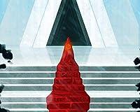 数字で描くアクリル絵の具の色原稿のシルエットマントル赤いステップ数字で描くDiyデジタル絵画現代アートクリスマスの誕生日の家の装飾 カスタマイズ可能 40x50cm DIYフレーム