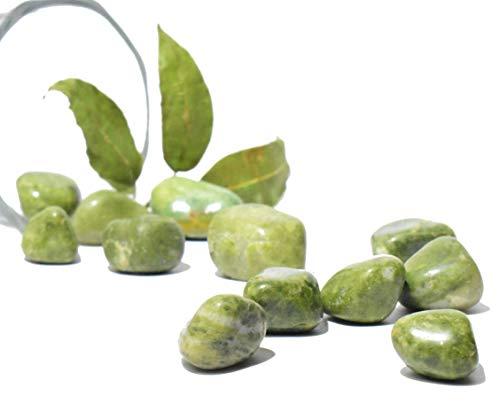 Healings4u Tumble - Vesuvianite (Idocrase) 3 pieces Polished Natural Healing Chakra Crystal Stone