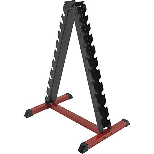 GORILLA SPORTS® Hantelständer für Kurzhanteln mit 20 Ablagen – Rack vertikal bis 150 kg belastbar