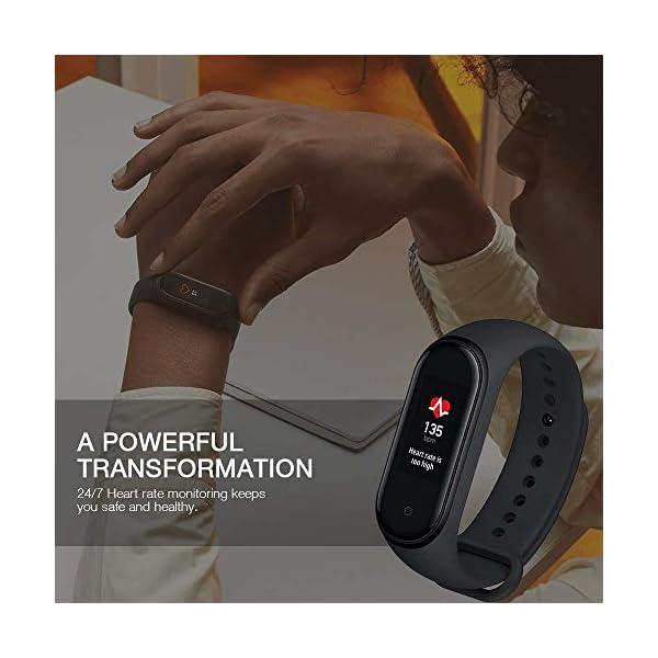 Xiaomi Mi Smart Band 4 - Tracker de actividad física con medidor de frecuencia cardíaca - Negro - Unisex 2