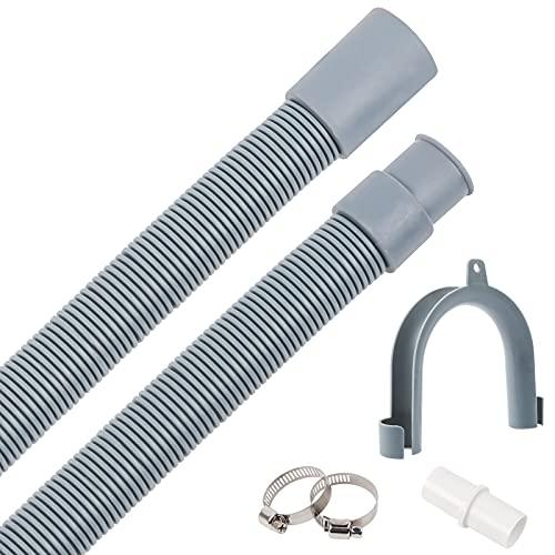 Bolatus Ablaufschlauch Waschmaschinen 1.5m Verlängerung Ablaufschlauch Universal Ablaufgarnitur Schlauch Waschmaschine Spülmaschine Ablaufschläuche