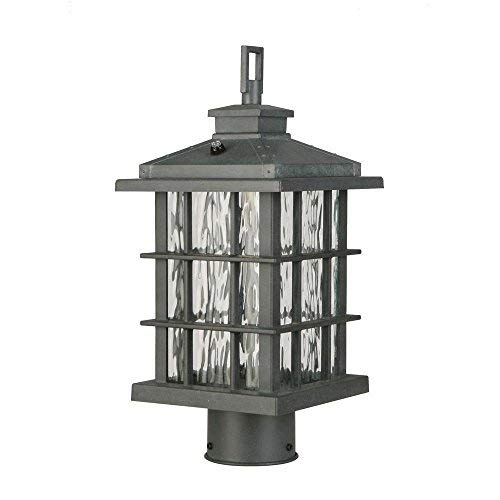 Home Decorators Collection CQH1801L Summit Ridge Zinc Outdoor LED Post Light