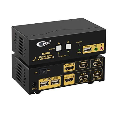CKL HDMI KVM Switch 2 Port Dual Monitor Extended Display (CKL-922HUA)