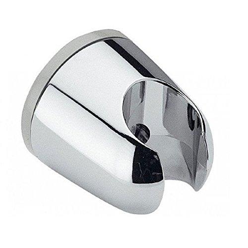 Brausehalter rund verchromt mit Schraube und Dübel für die Wand/Wandhalterung dür Handbrausen/Duschkopfhalterung/Halteklammer/Dusche
