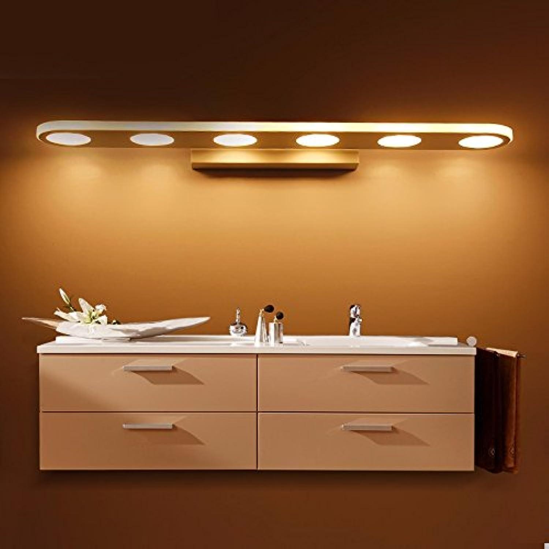 StiefelU LED Wandleuchte nach oben und unten Wandleuchten Glas Front-LED-Feuchtigkeit Schlafzimmer Wandleuchte, 55cm, rund