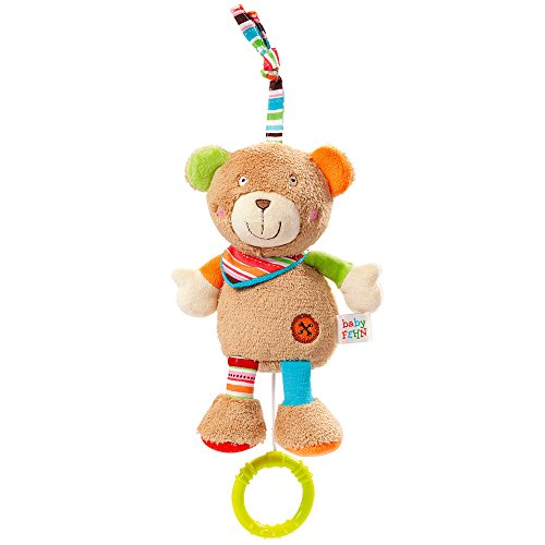 Fehn 091014 Mini-Spieluhr, Teddy, Oskar, 17