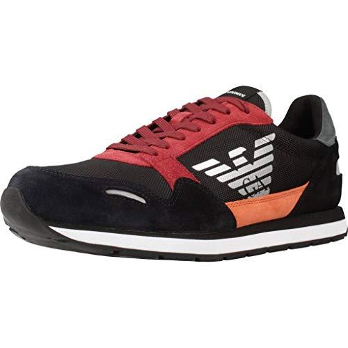 Emporio Armani X4X215-XL200-R154 Sneaker Herren Schwarz/Rot - 42 - Sneaker Low