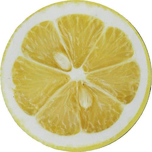 Home Collection Maison Cuisine Décoration Intérieur Accessoires Ustensiles Bar Ensemble de 4 Dessous de Verre en Forme de Tranche de Citron