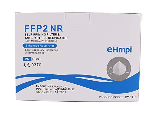 eHmpi Half FFP2 Nanomembran-Schutzmasken EN149: 2001 + A1: 2009