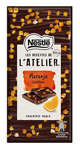 Nestlé Les Recettes de L'Atelier - Chocolate negro y Naranja Confitada - Tableta de Chocolate 16x115g