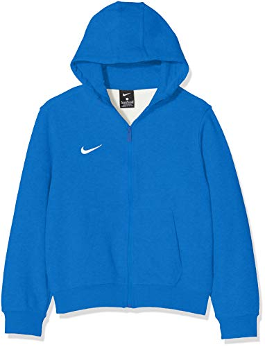 Nike Kinder Sweatshirt Team Club Full Zip Kapuzenjacke,Blau (Obsidian/football White), S