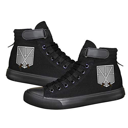 Attack on Titan Anime Unisex High Top Lona Shoes Fashion Sneakers Zapatos...