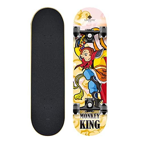 Taisei Monopatín De Longboard Profesional Complete 9 Capas De Cubierta 31'x8 Mono King Skate Board Maple Wood Longboards para Adultos Adolescentes Jóvenes Principiantes para Niños Niños Niños
