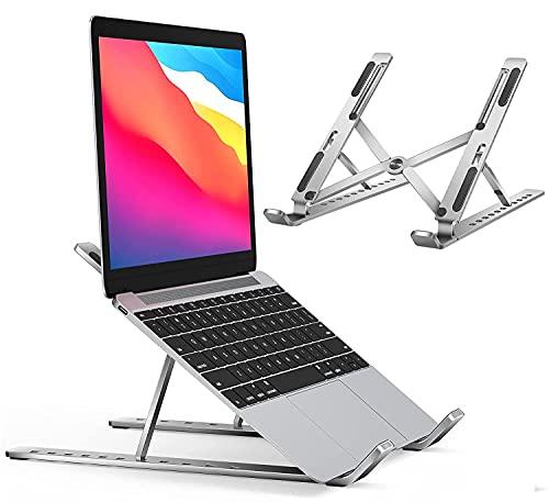 Vesty Laptop Stand for Table .Laptop, Computer, Tablet Riser Adjustable Aluminum Ergonomic Foldable Portable & Stable Desktop 6 Angles Holder…