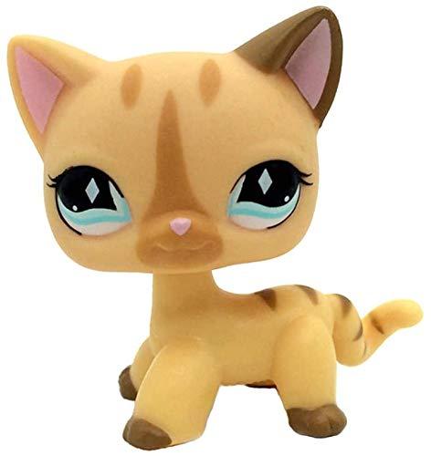 LPS-L Rare FiguresRare Mini Pet Toys #886 Yellow Short Hair Cat Cream Stripe Animal Figure GiftCollie Great Dane Shorthair Dachshund Cocker Spaniel