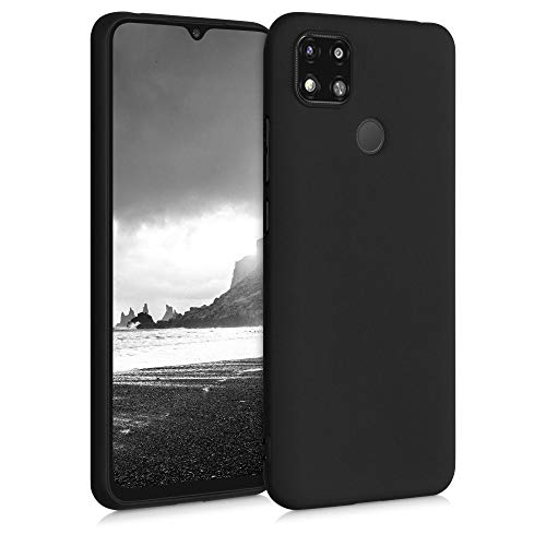 kwmobile Hülle kompatibel mit Xiaomi Redmi 9C - Hülle Silikon - Soft Handyhülle - Handy Hülle in Schwarz matt