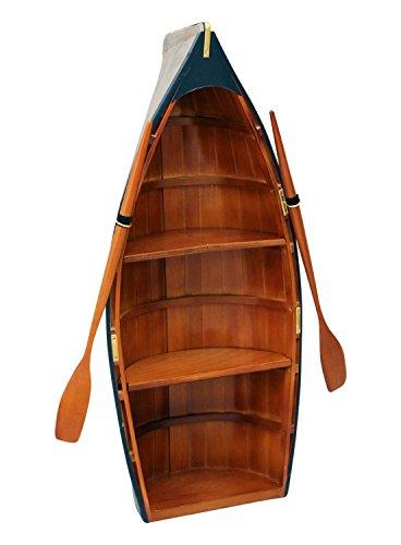 aubaho Barco estanteria Barco de Madera Barco de Guerra de la decoración del gabinete