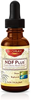 Detox Cleanser Herbal Supplement by Bioray | NDF Plus Improves Memory and Immune Function, Eliminates Brain Fog, Increases Vitality, Energy, Focus and More | 1 fl oz