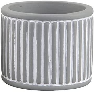 TREEECFCST Macetas De Ceramica Macetero Macetas de Exterior Rayas Verticales Simples Macetas de Flores suculentas en Blanco y Negro 915(Color:Gray)