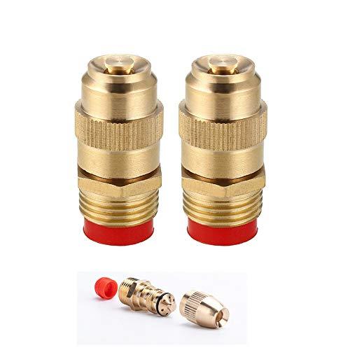 HE 2 PCS Kit nebulizzazione Acqua ugello Giardino1/2 (DN15) in Ottone Regolabile Spray ugello nebulizzatore Acqua Tubo connettore per Giardinaggio e Agricoltura