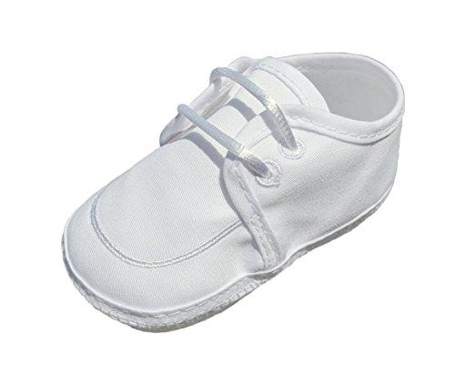Boy's Gabardine Lace-up Shoe (Size 4/White)