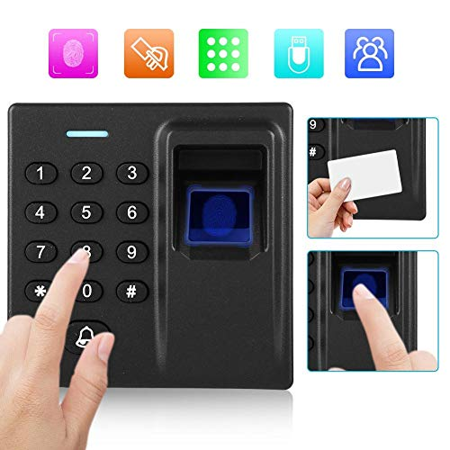 Tosuny Máquina de Huellas Digitales, Teclado de Sistema de Control de Acceso, Lector de RFID Biometría Teclado de Control de Acceso de Huellas Digitales para el hogar/Oficina.