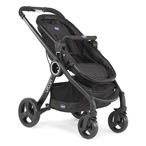 Chicco Urban Plus - Carrito transformable en capazo y silla de paseo, 7,6 kg, color negro ✅