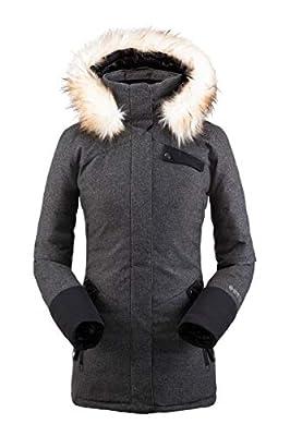 Spyder Women's Metro Gore-Tex Infinium Down Parka – Ladies Full-Zip Hooded Winter Jacket, Medium, BLACK by GBG Spyder USA LLC