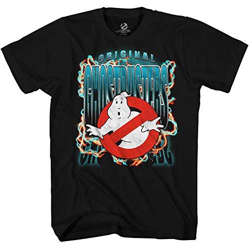 Men's Ghostbusters Unique Art Logo T-shirt, Black