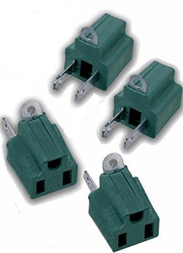 Adaptador de 3 clavijas a 2 clavijas, convertidor eléctrico de toma a...