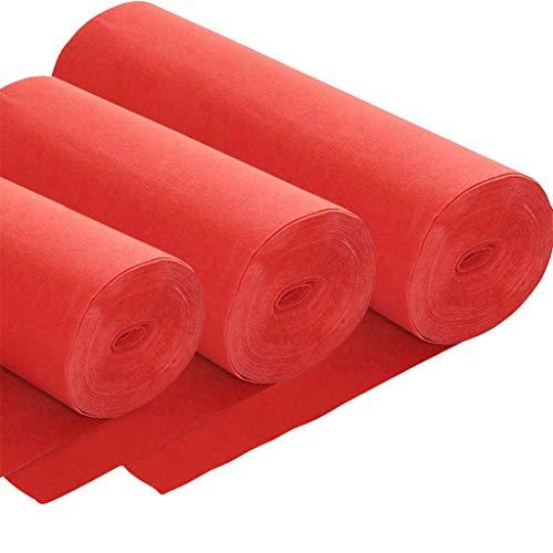 LIYIN-tapijt wegwerpbaar rood tapijt rol anti-slip verdikking 2 MM elke lengte bruiloft/podium/ceremonie Aisle