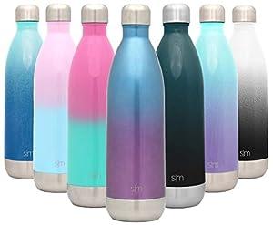 Vakuumisoliert: Die Wave-Wasserflasche von Simple Modern ist doppelwandig und vakuumisoliert, wodurch Ihr Lieblingsgetränk stundenlang heiß oder kalt bleibt. Aus hochwertigem 18/8 Edelstahl. Die Flasche ist aus hochwertigem, lebensmittelechtem 18/8 E...