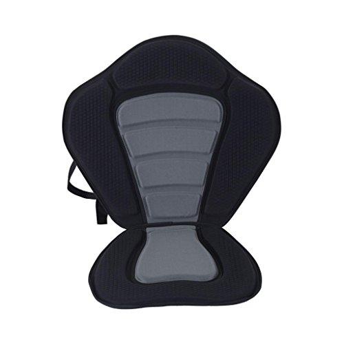 MagiDeal Réglable Confort Coussin de Siège Rembourré avec Dossier Amovible pour Kayak Canoë Bateau - Noir