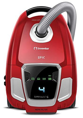 Inventor Staubsauger Epic (EP- BG62), mit Niedriger Geräuschpegel, HEPA-Filter, LED-Bildschirm und Griff mit integrierter Fernbedienung (Staubsauger mit Beutel, Kapazität 3.5L)