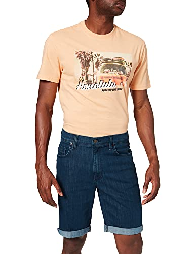 MUSTANG Herren Washington Jeans-Shorts, dunkelblau, 44W