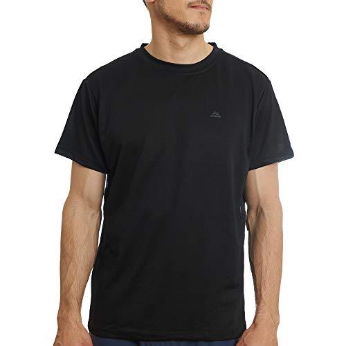 Camiseta Deportiva para Hombre, para Entrenamientos y Running, Pack de 1, Camiseta de Manga Corta, Transpirable, Absorbe la Humedad, Materiales 100% Reciclados (Negro, Medium)