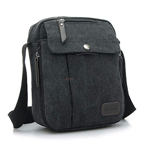 Urmiss Birthday Gifts for Men, Men's Multifunctional Canvas Small Messenger Bag Handbag Outdoor Sports Travel Shoulder Crossbody Side Bag