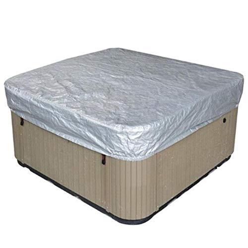 SDSA Möbelbezug, Quadratische Badewanne Im Freien, wasserdichte Und Staubdichte Sonnenschutzabdeckung, Material: 190Silberbeschichteter Polyester-TAFT