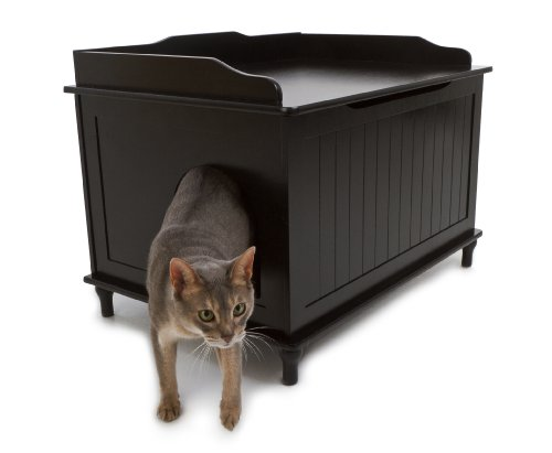 The Designer Catbox Litter Box Enclosure in Black