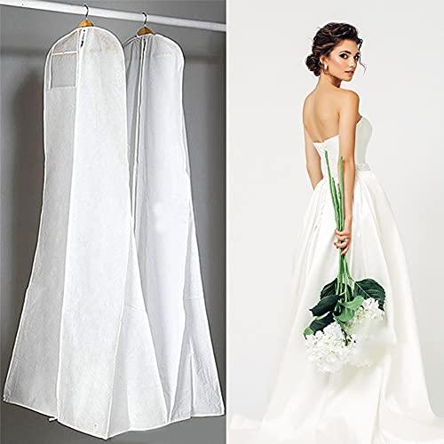 Dearlives Bolsa blanca para vestido de boda, 180 cm, fundas para vestidos...