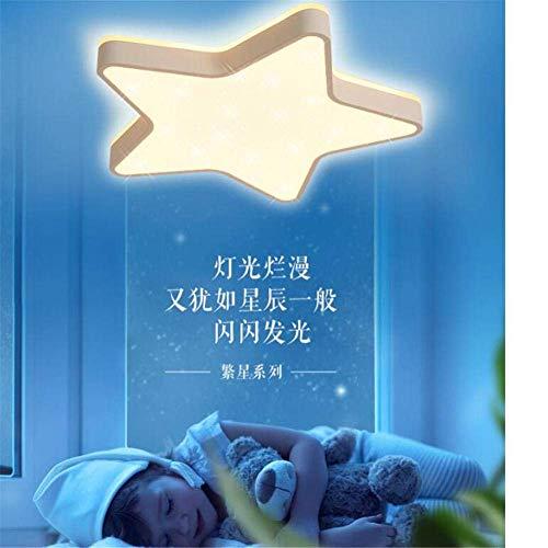 Luces de techo, mando a distancia, luces de habitación de los niños, personalidad, creatividad, delgadas, lámparas de techo de estrellas, jóvenes, dibujos animados, luces de dormitorio de color blanco