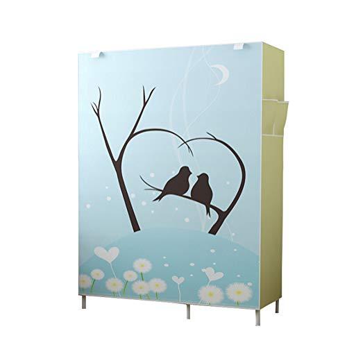 KEOA Faltschrank Stoffschrank Kleiderschrank, Portable Garderobe Textilschrank mit Kleiderstange Furniture Bedroom Wardrobes, für platzsparende(105 * 45 * 170cm),b