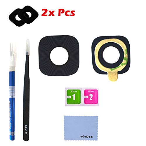 oGoDeal 2 Pack Back Rear Camera Glass Lens Cover Replacement for Samsung Galaxy S8/S8 Plus with Tool Kit and Adhesive Preinstalled