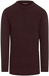 Tarocash Men's Jackson Crew Neck Knit Fit Sizes XS-5XL for Going Out Smart Casual