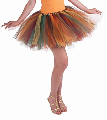 Forum Novelties Women's Fantasy Adult Autumn Fairy Tutu, Multi-color, One Size
