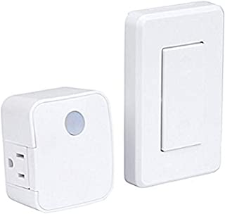 WESTEK Indoor Wireless Light Switch – No Wiring Required, Up To 100ft Distance – The Easy Way to Add a Switched Outlet, Id...