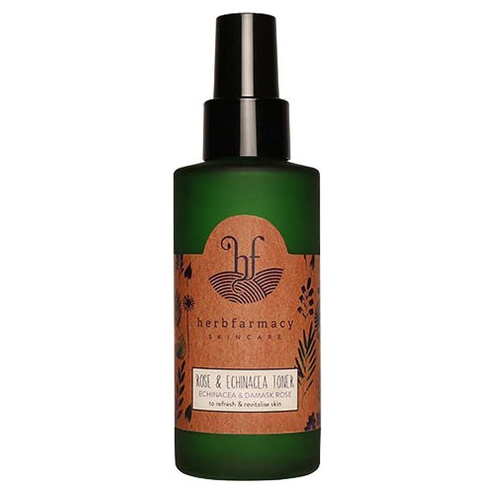 地域皮肉な間違えたハーブファーマシー (herbfarmacy) ダマスクローズ アンド エキナセア トナー 〈化粧水〉 (95mL)