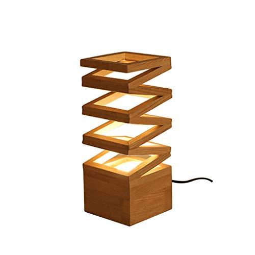 YIXIN2013SHOP Lámpara Mesilla de Noche Dormitorio Creativo Lámpara de Mesa Lámpara de Mesa de Madera Salón de Estudio Estudio LED Moderno Lámpara de Mesa Botón Interruptor Lámparas de Escritorio