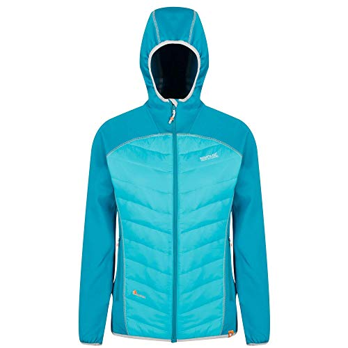 Regatta Damen Andreson IV Lightweight Insulated and Water Repellent Hybrid Down Jacke, Blau (Emaille/Keramik), 18